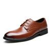 Yichi EGCHI Платье обувь мужская повседневная одежда модель бизнес кожа обувь мужчина 36296 коричневый 40