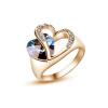 Yoursfs® альянс Золото 585 Blue Heart Stone Promise Ring Rose Gold Plated Создано Сапфир Турецкие украшения Свадебное обручальное кольцо