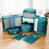 [супермаркет] Jingdong Европа Юн Чул сумка дорожная сумка косметичка сортировочные одежда озера синие семь наборов