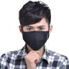 Зеленый дыхательных предотвращающие запотевание активированного РМ2,5 теплая дымка дышащие защитные маски пыли подарочной коробке подарок 4 углеродных адсорбции фильтр холодный черный (S), два слоя щиток маски ветер холодный доказательство открытый мотоцикл маски