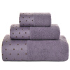 Kam бамбуковых полотенца волокна бамбука текстильной расчесывание элегантных квадратных полотенца, банные полотенца 3 комплекта фиолетовых каркам kam 815