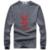PLAYBOY Playboy мужской моды круглый свитер шеи хеджирование с длинными рукавами свитер 16045PL1910 Borland L playboy playboy майках мужской моды случайные короткими рукавами вокруг шеи футболку 17001pl1714 серый 2xl