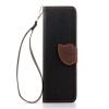 Черный Дизайн Кожа PU откидная крышка бумажника карты держатель чехол для HTC M7/One розовый дизайн кожа pu откидная крышка бумажника карты держатель чехол для htc one a9