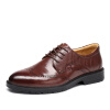 Старая голова (LAORENTOU) обувь мужская одежда деловая одежда обувь ношение выгравированной мужской обуви 8623176 коричневый 43 ярдов