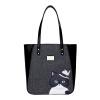 Му рыба (Muyu) Оригинальная сумка моды с капюшоном г-н Мэн Fun кошка портативного плечо мешок большой емкости серая 40645