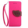 Розовый Дизайн Кожа PU откидная крышка бумажника карты держатель чехол для Apple iPod touch 5