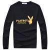 Playboy PLAYBOY Футболка Мужская мода повседневная печать Футболка с длинными рукавами Мужская 16057PL2903 Black M