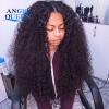 Perruque Kinky Curly Virgin Hair Perruque Cheveux Humain Court Плетение натуральных волос Перуанское плетение Curly Hair Weaving UK