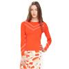 ASOBIO Europe и США V-образный полосатый круглый свитер с длинными рукавами 4513241982 429 пламя красный 160 / 84A-S
