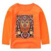 Родители родителя (KIDS МАМ & DAD) Детская шею длинными рукавами футболки печать дна рубашки мальчиков мальчиков пальто 52894 Orange 150