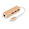 Cabos Type-C to 3-порт USB концентратор с Ethernet конвертер cabos usb cавтомобильное зарядное устройство с зажигалкой