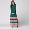 Plus Size Loose Women Dress Muslim Elegant Long Dresses Fashion the new muslim women s dress elegant chiffon pendant loose lined waist belt