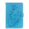 Синий цветок дизайн искусственная кожа флип кошелек карты держатель чехол для IPAD MINI123