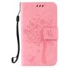 Pink Tree Design PU кожа флип крышку кошелек карты держатель чехол для SAMSUNG J120