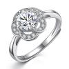 Женские цветки Кади Ло серебряное кольцо отверстия 925 кольца можно регулировать женские кольца jv женское серебряное кольцо с куб циркониями f 642r 001 wg 17 5