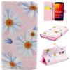 все цены на Розовый цветок дизайн искусственная кожа флип кошелек карты держатель чехол для LG Spirit H422 онлайн