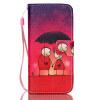 Пара Зонтик Дизайн PU кожаный бумажник держателя карты откидная крышка чехол для IPHONE 5S пара зонтик дизайн pu кожаный бумажник держателя карты откидная крышка чехол для iphone 6