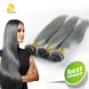 Trendy Gray Hair Silky Straight Weave Bundles 3pcs Brazilian Human Virgin Hair 300g Grade 7A Top Quality Hair Weft Extension legare straight desk gray driftwood