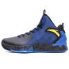 ANTA мужская обувь 11641101-3NBA Thompson KT2 звезды модели сапоги высокой помощи носить профессиональную обувь баскетбола черный / синий / яичный желток 40,5