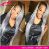 Full Lace Human Grey Hair Wigs silk straight Sliver Grey Hair Swiss Lace Wig Gray Human Real Hair Wigs 150% Density ombre hair wig