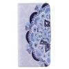 Blue Flower Design Кожа PU откидной крышки Кошелек Карты Держатель чехол для HUAWEI P9