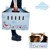 принадлежности Тада кот голубой гофрированная портативная многофункциональный пакет для мусора кошки кошки Garfield Muppet ребенка синего кота кошка кошка Граттаж (отправить натуральную кошачью мяту) для кошки