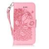 Розовые розы Дизайн Кожа PU откидная крышка бумажника карты держатель чехол для IPHONE 5S цветочный дизайн кожа pu откидная крышка бумажника карты держатель чехол для iphone 5s