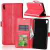 Red Style Classic Flip Cover с функцией подставки и слотом для кредитных карт для Sony Xperia XA Ultra protective pc tpu back case cover w stand for samsung galaxy note 4 transparent white