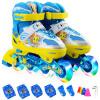 Dulux Enpex детские коньки восемь полный флэш мультфильм игрушка роликовый конек роликовые коньки MS170 синий L код роликовые коньки tempish mondial