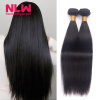 Bouncy Top Quality N.L.W. Products Brazilian Virgin Hair Straight 4 Bundles 8A Unprocessed Free Shipping Full and Thick free shipping 4 4 116v woven carbon fibre violin bow straight high quality ebony frog flower white mane violin parts accessories
