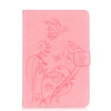 Розовый цветок дизайн искусственная кожа флип кошелек карты держатель чехол для IPAD MINI4