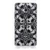 Черные цветы Pattern Мягкая обложка Тонкий ТПУ резиновый силиконовый гель чехол для Microsoft Lumia 640