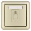 ABB розетка выключатель гнездо панели TV PC Dejing серии Gold AJ325-PG розетка акустическая abb impuls черный бархат с черной вставкой