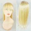 #613 Straight Human Hair Seamless Hairband Bangs Top Piece Hair Topper Hairpiece free shipping Soft and Smooth wig female straight qi long straight hair bangs 79
