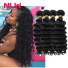 Virgin Malaysia Curly Hair Grade 8A Deep Wave Weave 5 Bundles Human Hair Curly Extension for Black Women Free Shipping NWL Hair malaysia