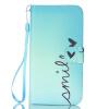Улыбка Дизайн PU кожа флип кошелек карты держатель чехол для LG K10 флип кейс euro line vivid для lg k10
