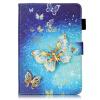 Золотые бабочки Дизайн Кожа PU откидная крышка бумажника карты держатель чехол для SAMSUNG T580