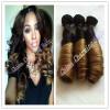 Фото 7A Непроработанный Aunty Funmi Hair 1b / 27 Honey Blonde Ombre Two Tone Hair 100% Virgin Brazilian Bouncy Romance Curl 3pcs Lot