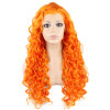 Long Curly Orange Synthetic Lace Front Costume Party Wig long curly blue synthetic lace front cosplay party wig