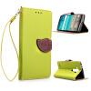 все цены на  Зеленый дизайн Кожа PU откидная крышка бумажника карты держатель чехол для LG G4/H818  онлайн