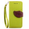 Зеленый дизайн Кожа PU откидная крышка бумажника карты держатель чехол для Apple iPod touch 5