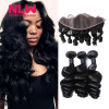 13 x 4 8A grade Brazilian Virgin human Hair Lace frontal With 3pcs unprocessed virgin loose wave black Hair Bundles Weaves 7a none full lace human hair wigs short straight glueless unprocessed virgin brazilian lace front wig black women