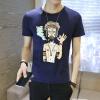 lucassa короткими рукавами футболки мужские шею футболки мультфильма печатных короткими рукавами футболки мужчин 98077 черный XXL футболки