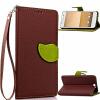 Коричневый Дизайн Кожа PU откидная крышка бумажника карты держатель чехол для HTC One A9 розовый дизайн кожа pu откидная крышка бумажника карты держатель чехол для htc one a9