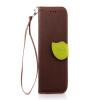 Коричневый Дизайн Кожа PU откидная крышка бумажника карты держатель чехол для HTC One M8 розовый дизайн кожа pu откидная крышка бумажника карты держатель чехол для htc one a9