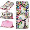 Красочные дерево Дизайн PU кожа флип кошелек карты держатель чехол для SAMSUNG GALAXY S8