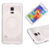 Белый цветочный шаблон Мягкая тонкая резиновая оболочка из силиконового геля TPU для SAMSUNG Galaxy S5 Mini samsung g900h galaxy s5 16гб белый в омске