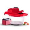 Соединенные Штаты пряжки кухонные измельчители с коробкой ручной бытовой измельченной ломтик (красный 6 лезвий)