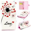 Любовь сердце одуванчика Дизайн искусственная кожа флип чехол Wallet карты держатель чехол для LG Magna H502 lg lg magna h502 стальной 8гб 2 sim 3g