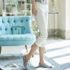 INMAN 2017 лето новый чистый цвет хлопок брюки брюки случайные брюки белые брюки жемчужно-белый M 1872093260